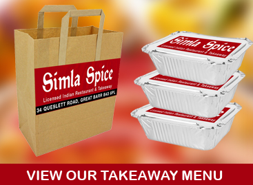 Simla Spice Indian Takeaway Menu